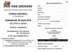 VIDE-GRENIERS ALP/SAP 2018