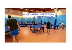 Sainte-Maxime Tennis de Table - AG vendredi 25 mai, 19h