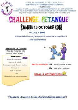 challenge petanque