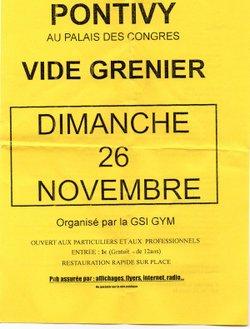 VIDE GRENIER DIMANCHE 26 NOVEMBRE 2017