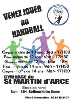 Venez jouer au Handball
