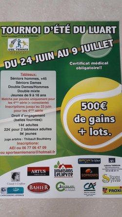 TOURNOI DU LUART DU 24 JUIN AU 9 JUILLET