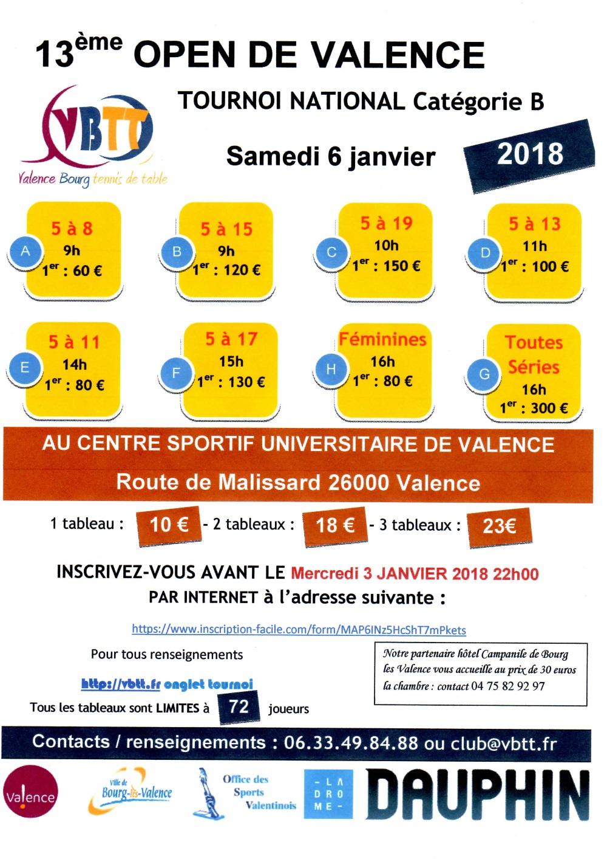 13ème édition du tournoi national de Valence