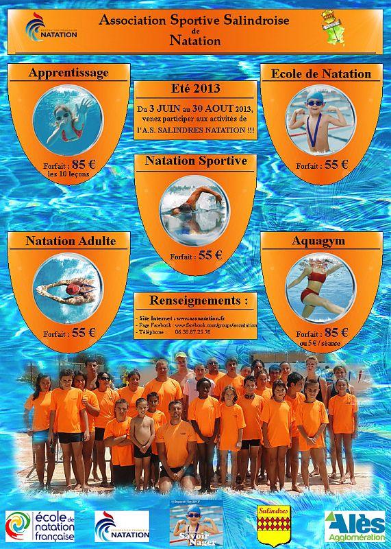 Saison 2013 de natation estivale