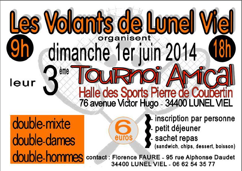 AFFICHE tournoi Lunel 1er juin
