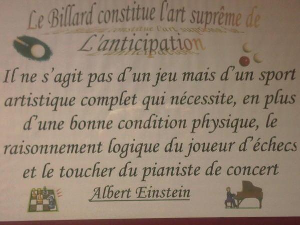 Le Billard par Alfred EINSTEIN