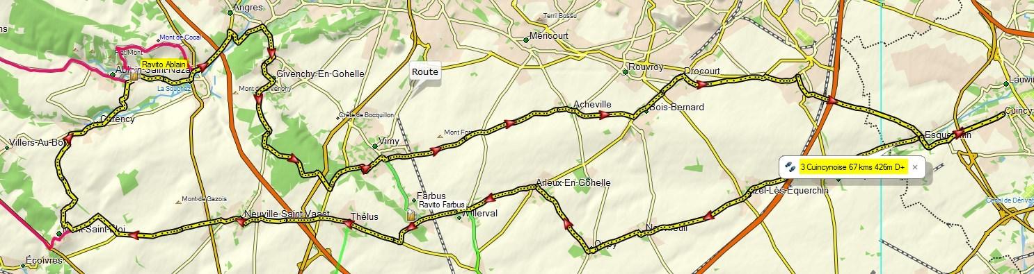 Circuit de 67 kms