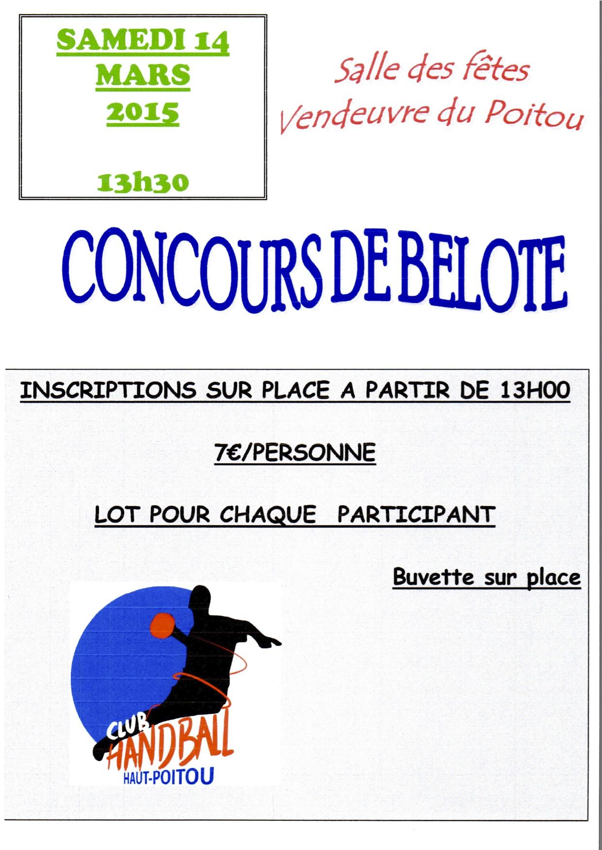Concours de belote 14 mars 2015