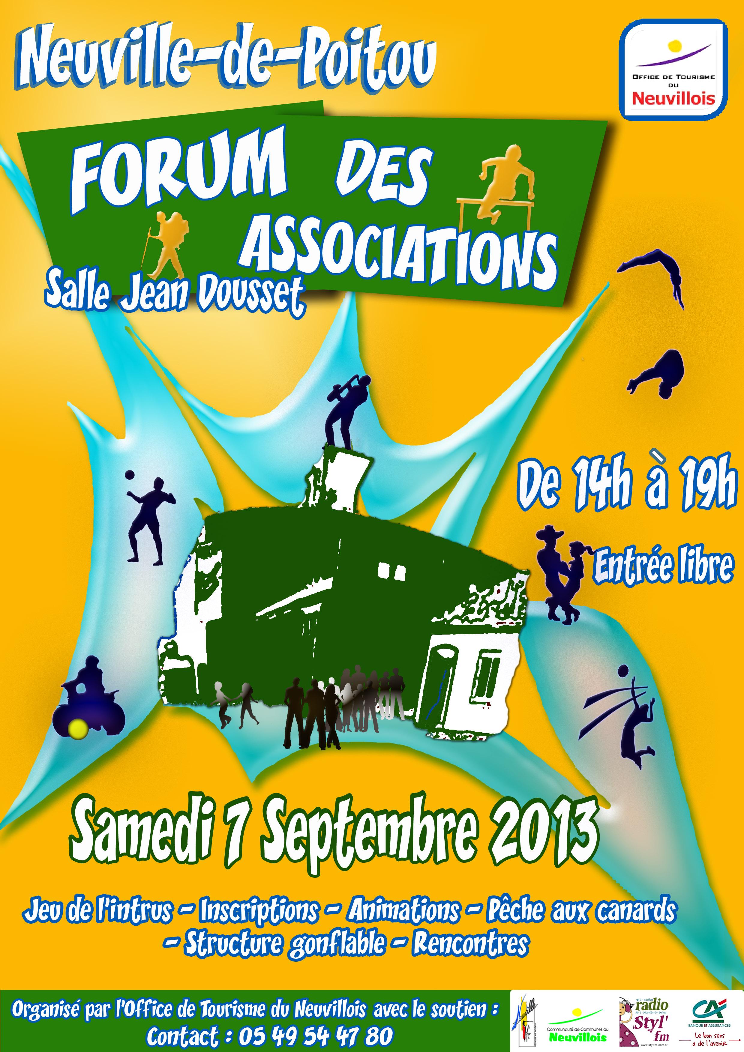 Affiche Forum Associations Neuville 7 septembre 2013
