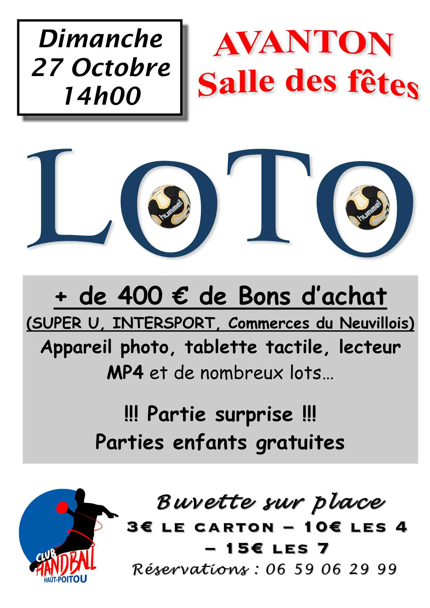 Affiche loto Avanton 27-10-2013