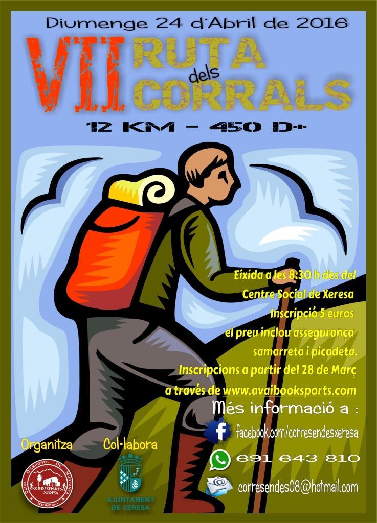Cartell VII Marxa dels Corrals a Xeresa