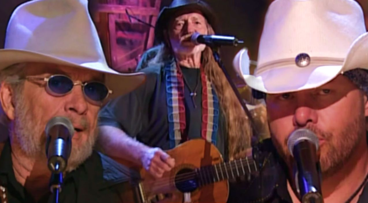 Merle Haggard, Willie Nelson & Toby Keith -