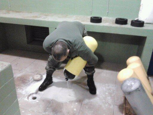 Nettoyage interieur bloc