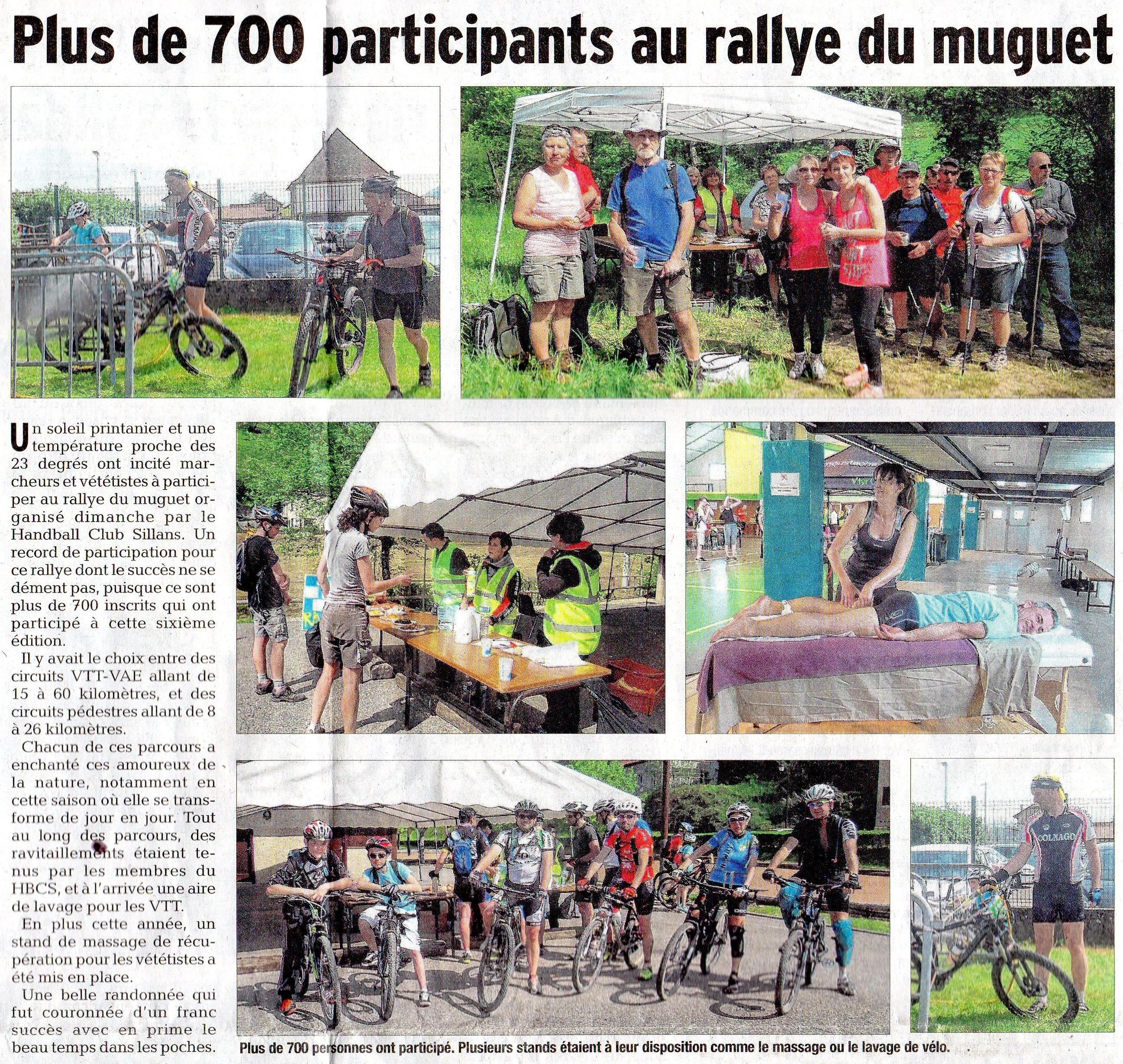 Le dauphiné libéré - Rallye du Muguet