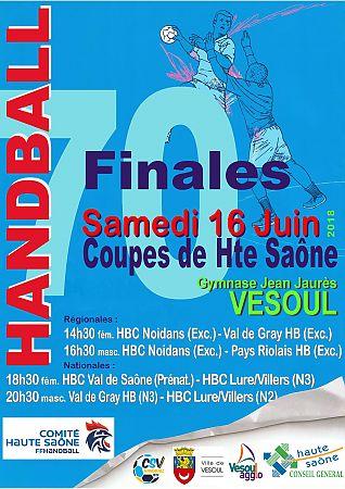 Finales des Coupes de Haute Saone Séniors à Vesoul