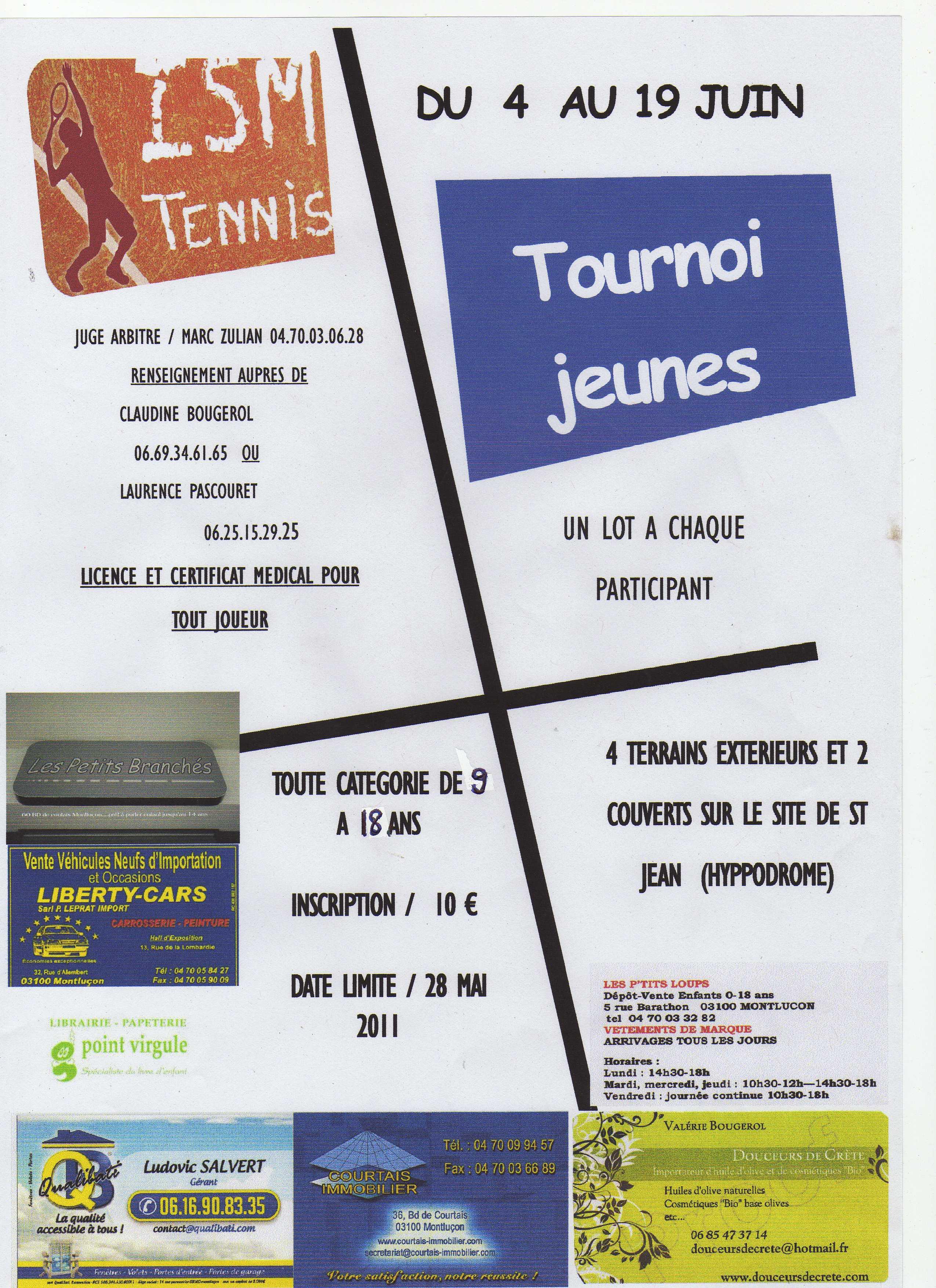 Affiche tournoi jeunes 2011