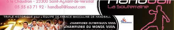 Site Internet officiel du club de handball LA SOUTERRAINE HANDBALL