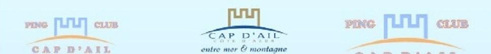 PING CLUB DE CAP D'AIL : site officiel du club de tennis de table de CAP D AIL - clubeo