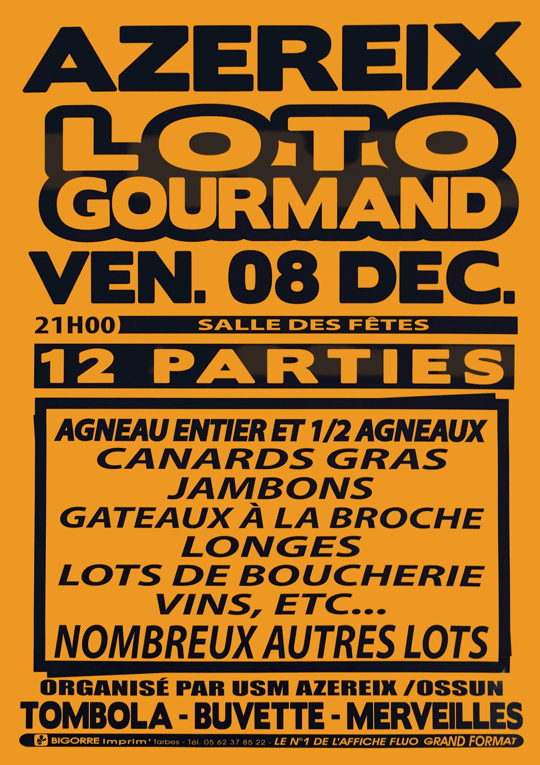 Affiche Loto 12 Dec