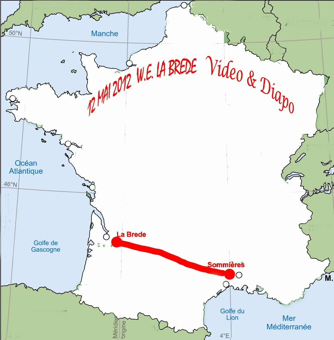 carte France La Brede