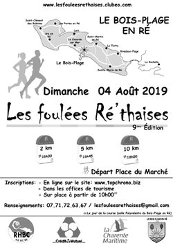 Bulletin d'inscription 2019