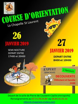 COURSE D'ORIANTATION 2019