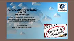 Assemblée Générale du club le mardi 22 septembre à 19 H 30