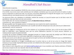 Informations COVID-19 du 30/10/2020