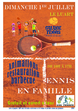 JOURNEE TENNIS EN FAMILLE DU 1er JUILLET