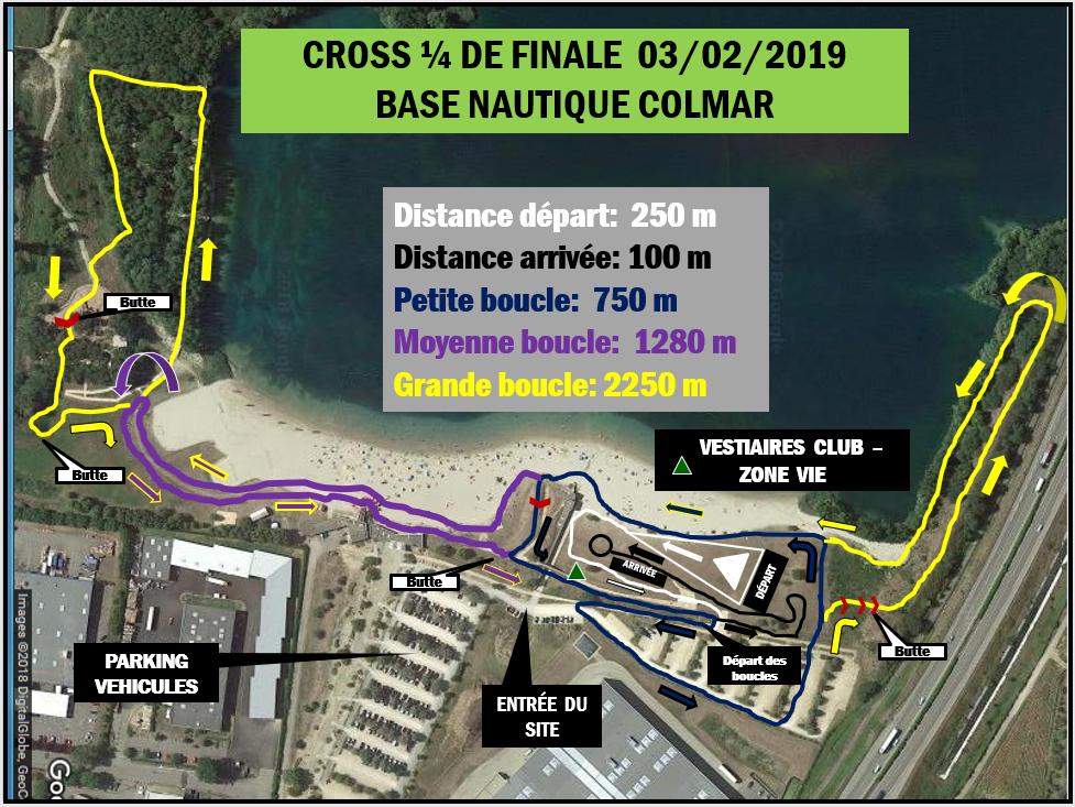 Parcours du crosse départemental Colmar 2018