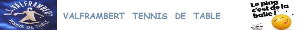 ASV Tennis de table : site officiel du club de tennis de table de VALFRAMBERT - clubeo