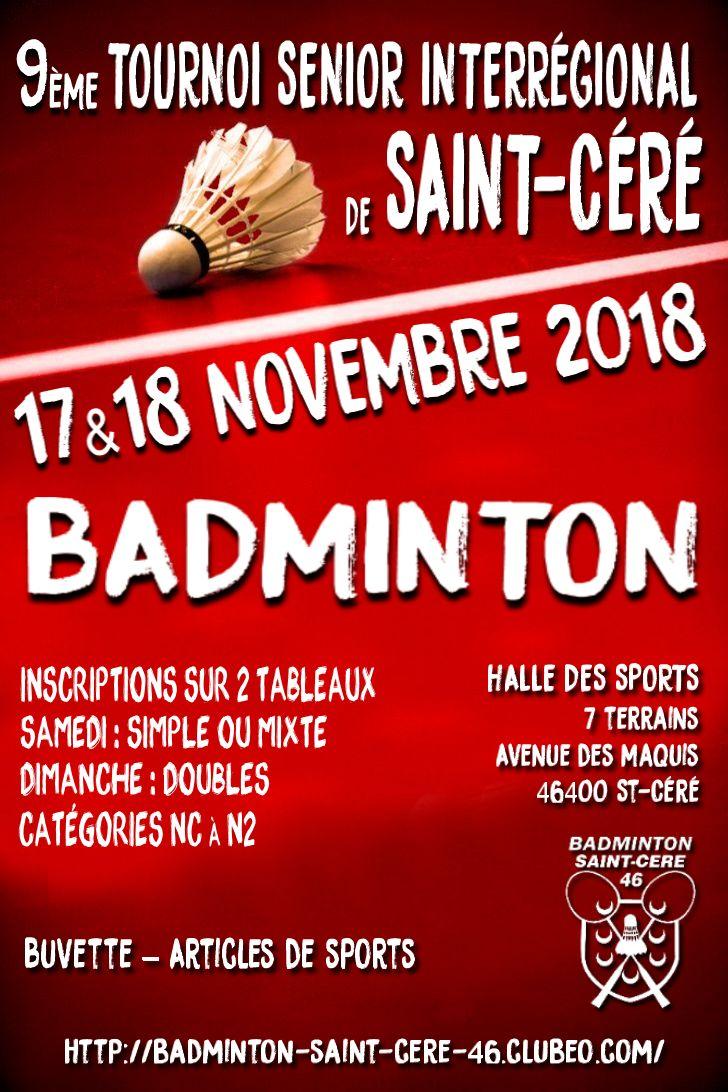 AFFICHE 9EME TOURNOI BADMINTON ST CERE 46 17-18 NOVEMBRE 2018.jpg