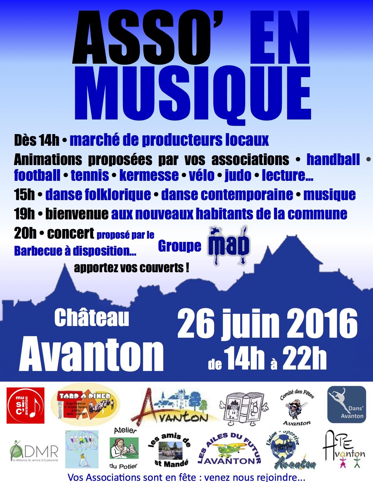 Affiche Asso'en Musique Avanton 26 juin 2016