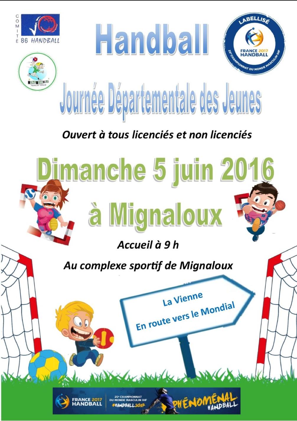 Affiche Journée Départementale des Jeunes 5 juin 2016