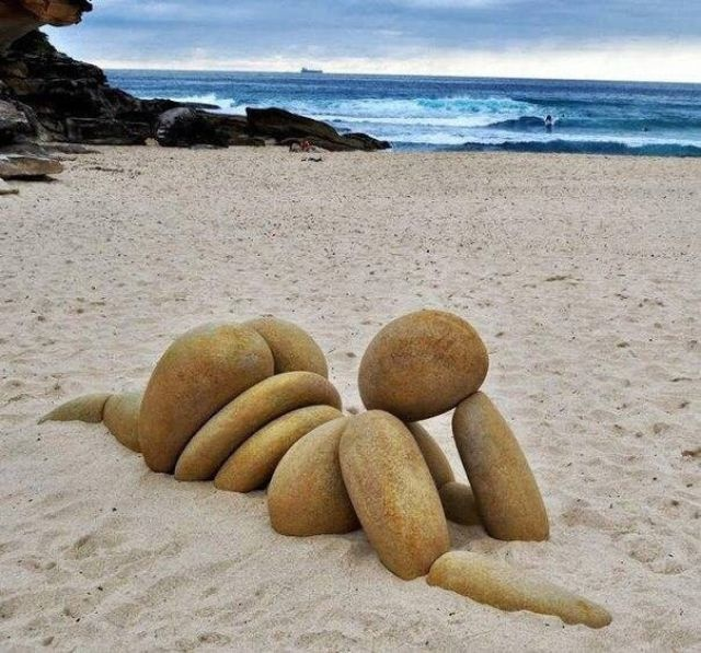 Sculptures de galets