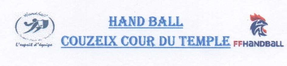 HandBall Couzeix Cour du Temple : site officiel du club de handball de Couzeix - clubeo