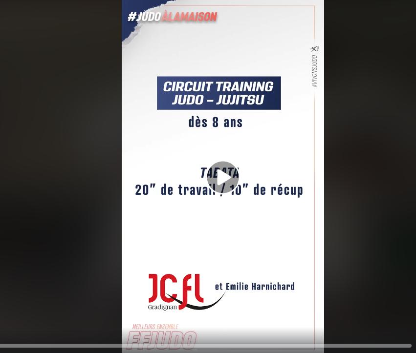 Circuit training Judo