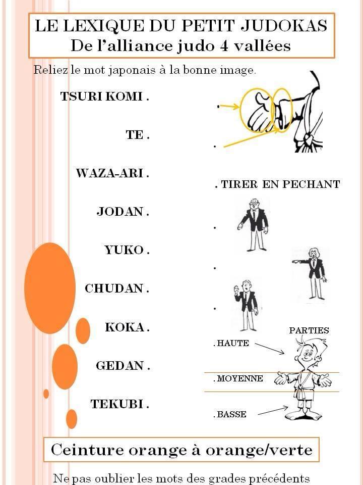 Lexique termes japonais à relier