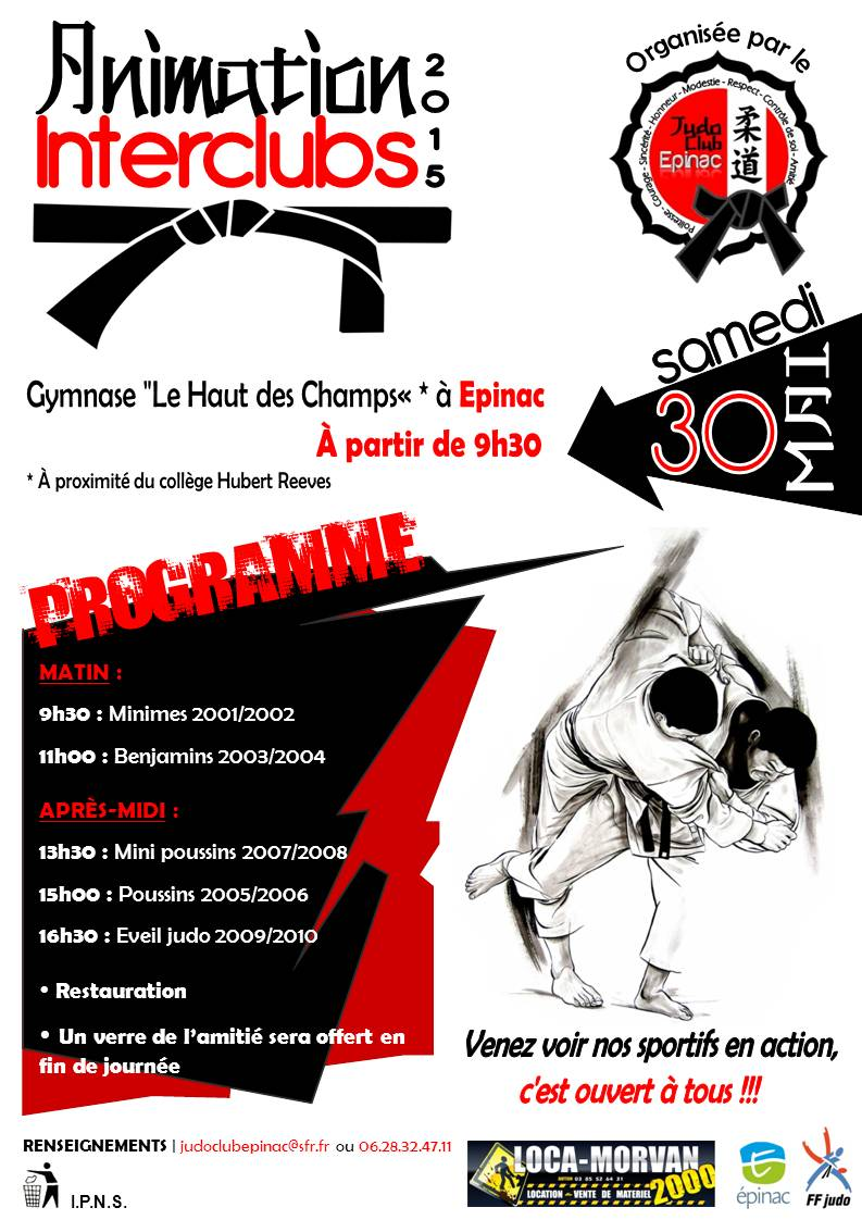 Affiche Interclubs 2015