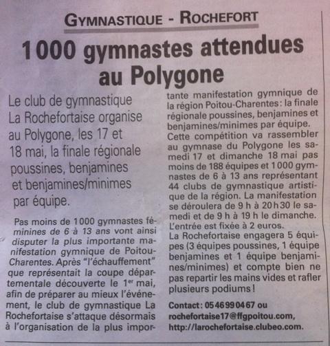 1000 gymnastes attendues au Polygone