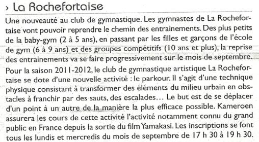 Communiqués - La Rochefortaise