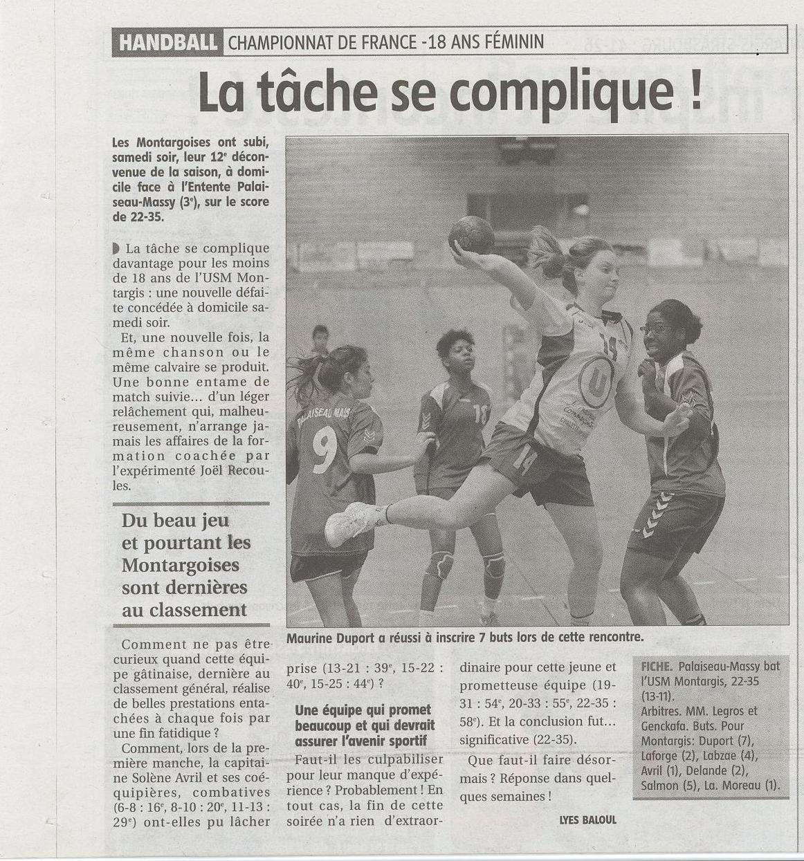 La tâche se complique pour les -18 - l'éclaireur - 24/01/2013