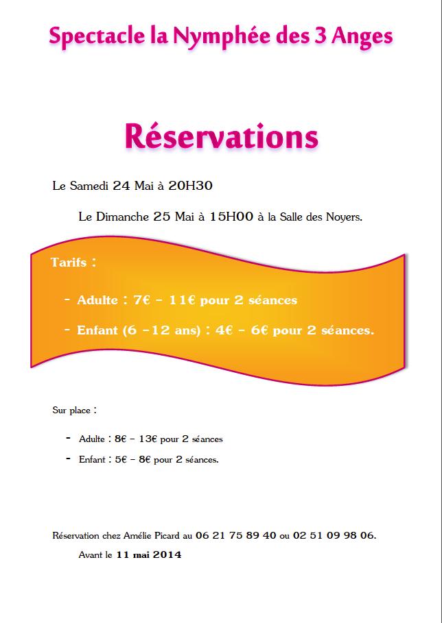 Informations réservations gala 2014