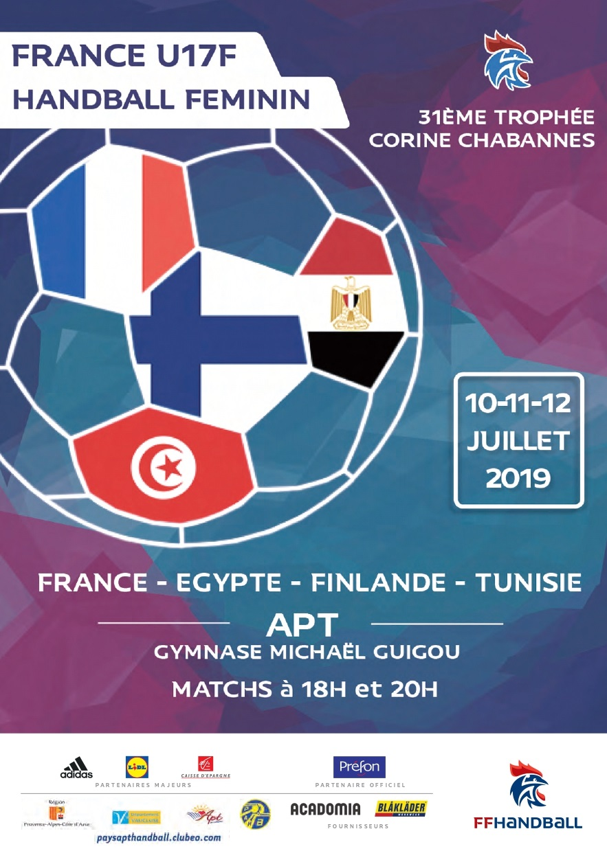 Affiche trophee Corine Chabannes, tournoi des quatre Pays