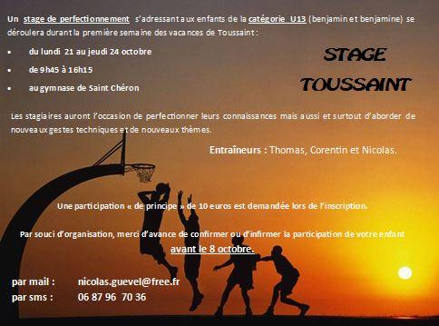 stage u13 toussaint
