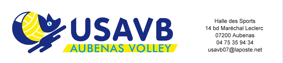 Union Sportive Aubenas Volley-Ball : site officiel du club de volley-ball de AUBENAS - clubeo
