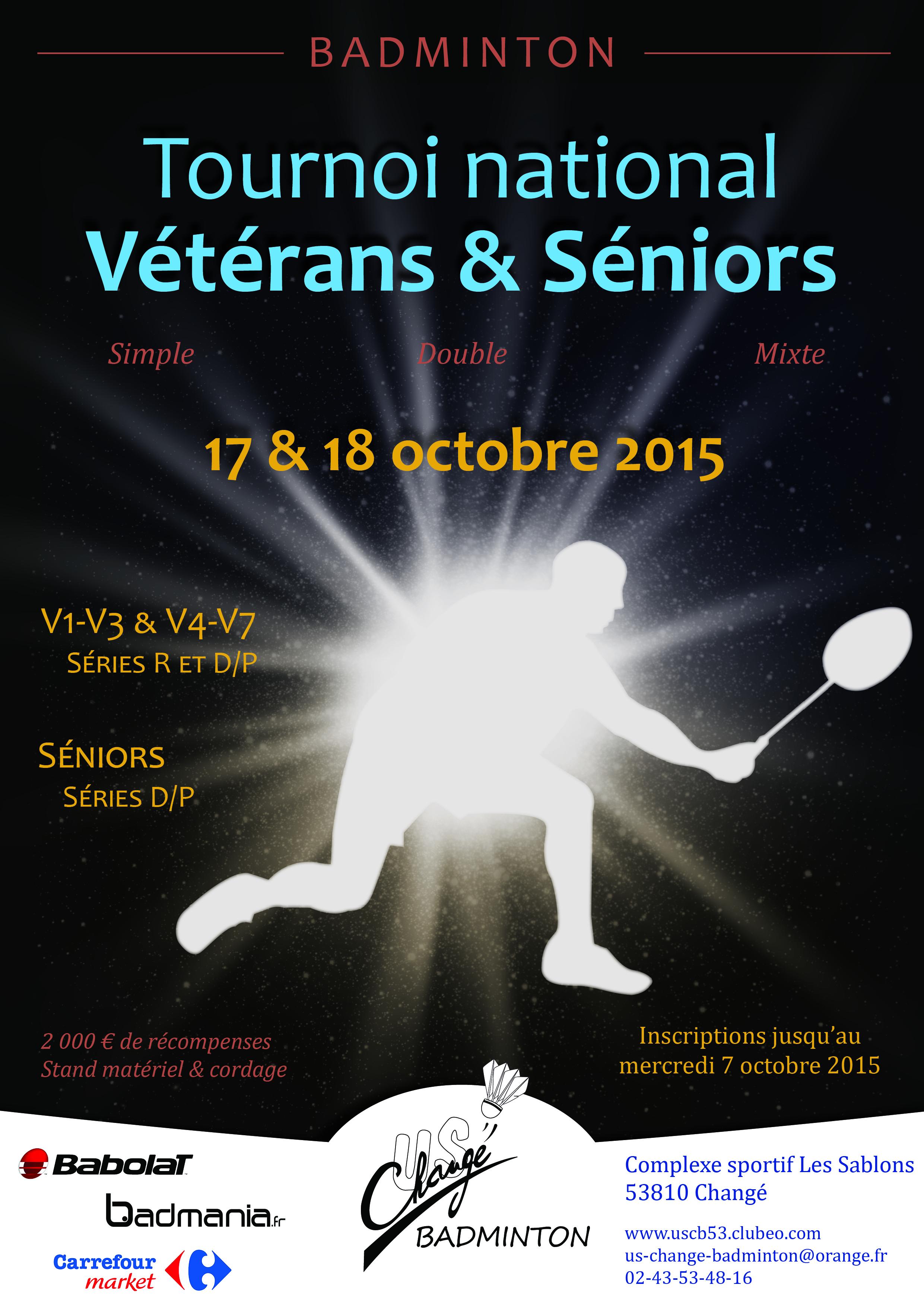 Affiche 2015 tournoi vétérans Changé