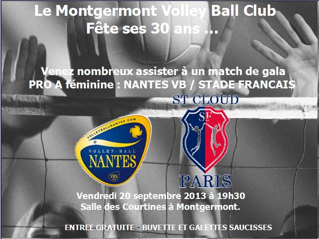 Affiche match Gala 30 de Montgermont