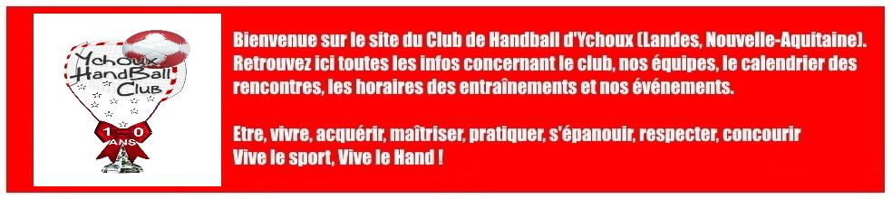 Ychoux Handball Club : site officiel du club de handball de Ychoux - clubeo
